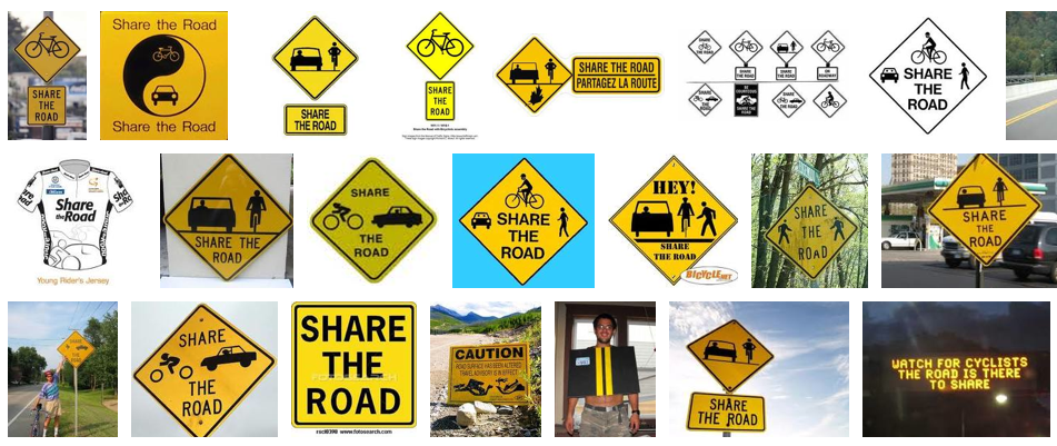 "Usually diamond-shaped and yellow, these ""warning signs"" caution drivers"