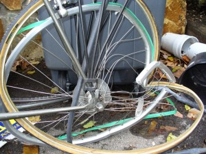Smashed Bike Wheel - smaller